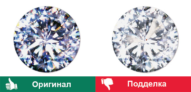 Как отличить бриллиант от циркония в домашних условиях